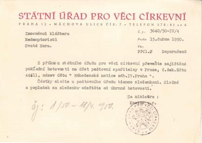 Zabavení majetku po Akci K 1950